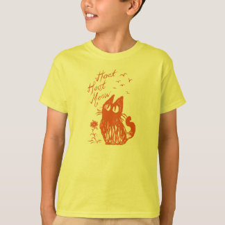 Owl Cat *Orange T-Shirt