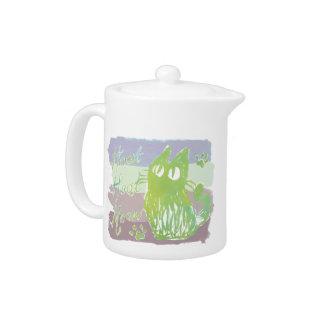 Owl cat *Pale grayish tone Teapot