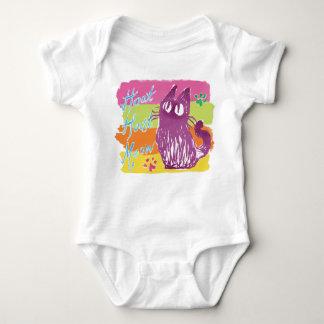Owl cat (Pop color) Baby Bodysuit
