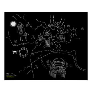 Owl Cave Map - Twin Peaks Posters