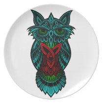 Owl Celtic Art Plate