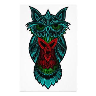 Owl Celtic Art Stationery
