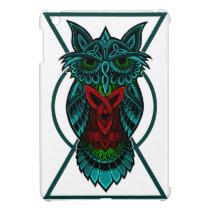 Owl Celtic Geometric iPad Mini Cover