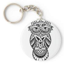 Owl Celtic Knot Keychain