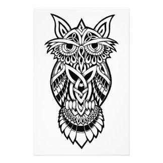 Owl Celtic Knot Stationery