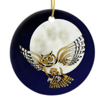 Owl Ceramic Ornament