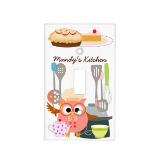 Owl Chef in Kitchen Light Switch Cover