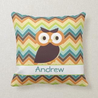Owl {chevron} Baby Pillow