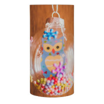Owl Christmas bauble Flameless Candle