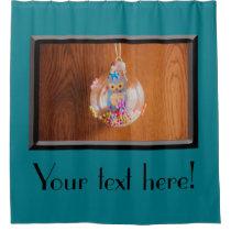 Owl Christmas bauble Shower Curtain