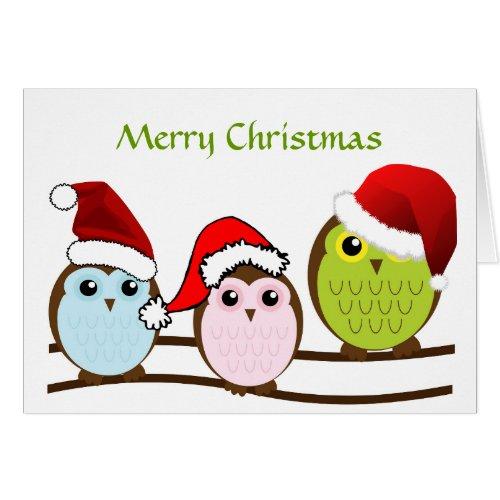 owl christmas card - Owl Christmas