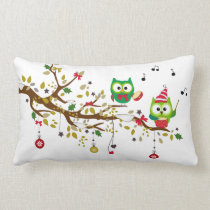 Owl Christmas Pillow