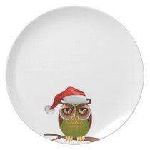 Owl Christmas Plate