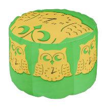 Owl clock pouf