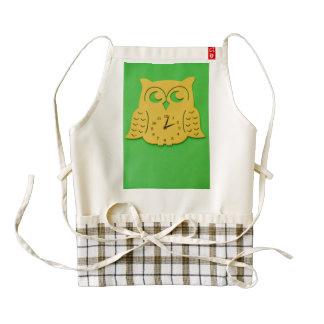 Owl clock zazzle HEART apron