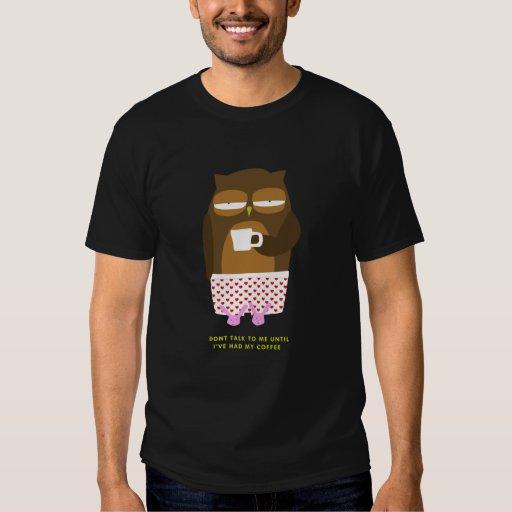 Owl Coffe Message T-Shirt