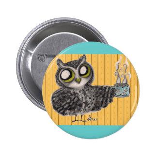 Owl Coffee Time - Button