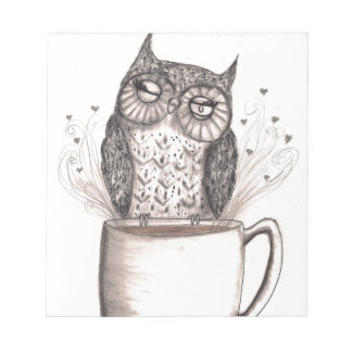 Owl Coffee Time Notepad