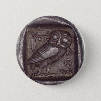 Owl Coin Pinback Button