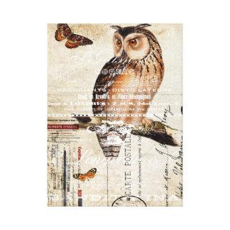 Owl Collage Canvas Print