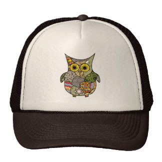 Owl Collage Hats