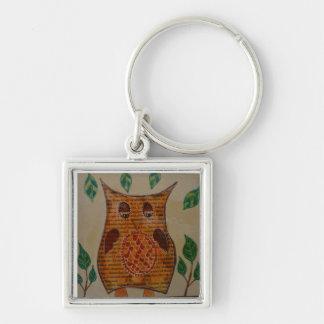 Owl Collage Keychain