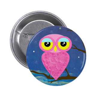 owl collection 2 inch round button