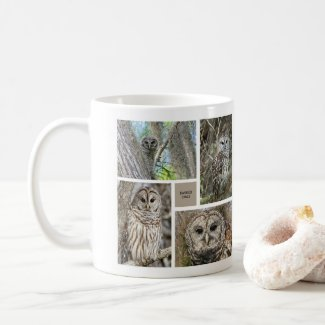 Owl Collection Barred & Great Horned Owls Coffee Mug
