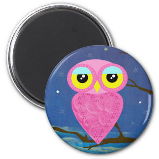 owl collection 2 inch round magnet