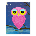 owl collection post card