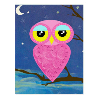 owl collection postcard