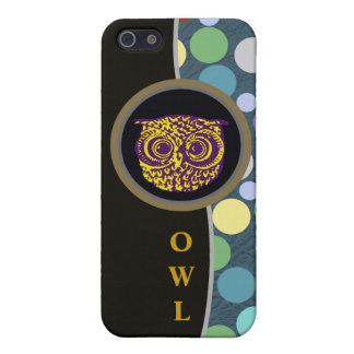 owl & colored balls case for iPhone SE/5/5s