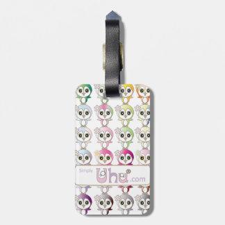 Owl: Colorful Buju Selection Bag Tag