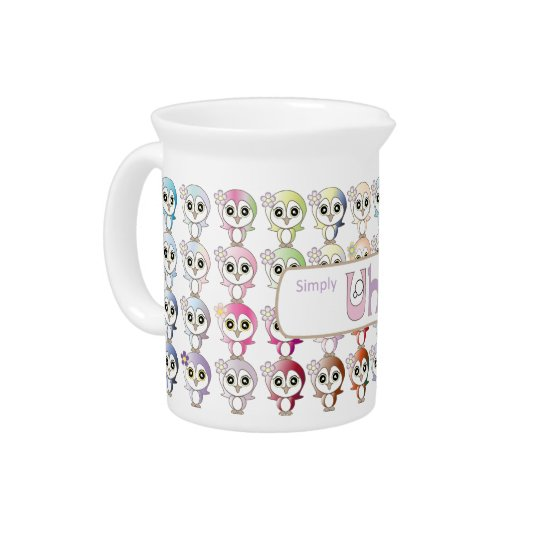 Owl: Colorful Buju Selection Beverage Pitcher