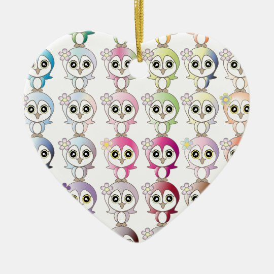 Owl: Colorful Buju Selection Ceramic Ornament