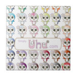 Owl: Colorful Buju Selection Ceramic Tile