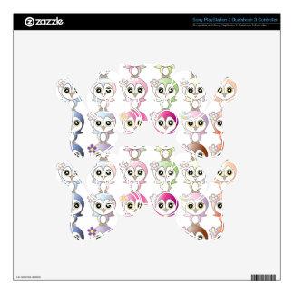 Owl: Colorful Buju Selection PS3 Controller Skin