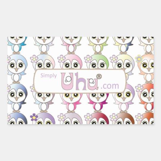Owl: Colorful Buju Selection Rectangular Sticker