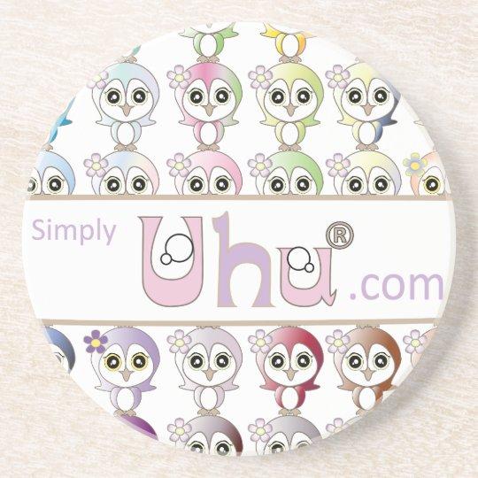 Owl: Colorful Buju Selection Sandstone Coaster