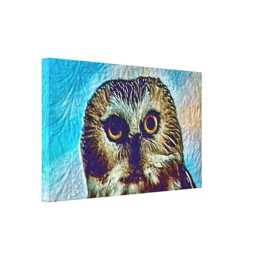 Owl - Colorful Canvas Wall Art Gallery Wrapped Canvas