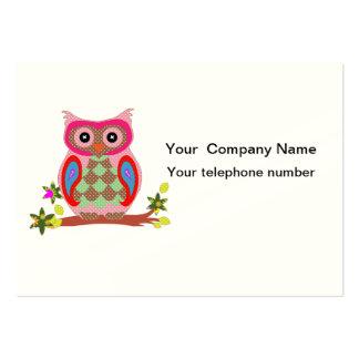 Owl colorful decorative art custom business card
