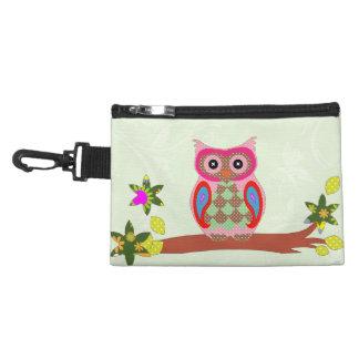 Owl colorful patchwork decorative accessory bag