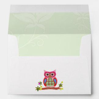 Owl colorful patchwork decorative art envelopes