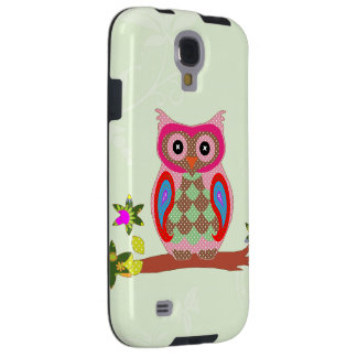Owl colorful patchwork decorative samsung s4 case galaxy s4 case