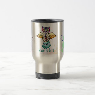 Owl compass east or west home is best travel mug