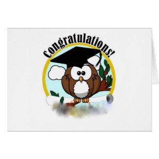 OWL CONGRATULATIONS GREETING CARD