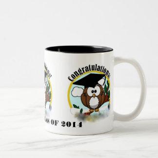OWL CONGRATULATIONS CLASS OF 2014 Two-Tone COFFEE MUG