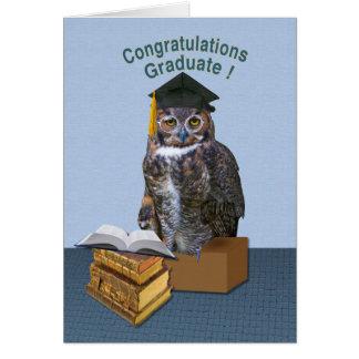 Owl Congratulations Graduate Card
