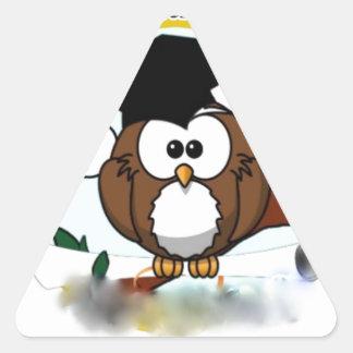 OWL CONGRATULATIONS TRIANGLE STICKER