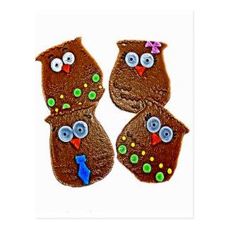 OWL COOKIES POSTCARD
